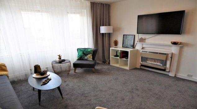 Living room at Fitzalan View Apartment