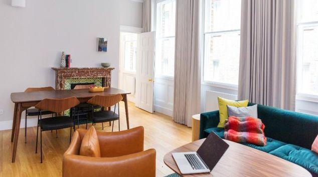 Lounge at the Native Bank Apartments