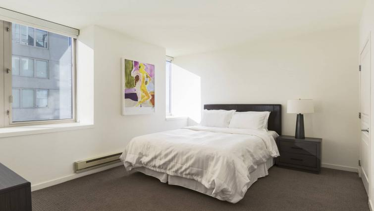 Bedroom at the Geary Courtyard Apartments