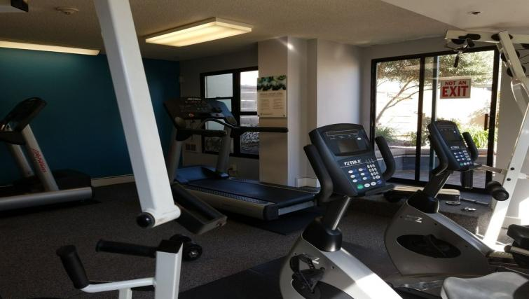 Gym at the Geary Courtyard Apartments