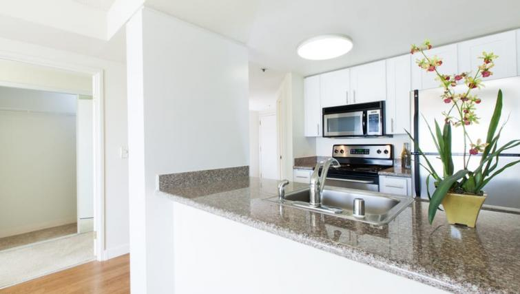 Kitchen at the Geary Courtyard Apartments