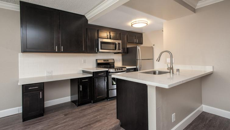 Kitchen at the Tower 737 Apartments
