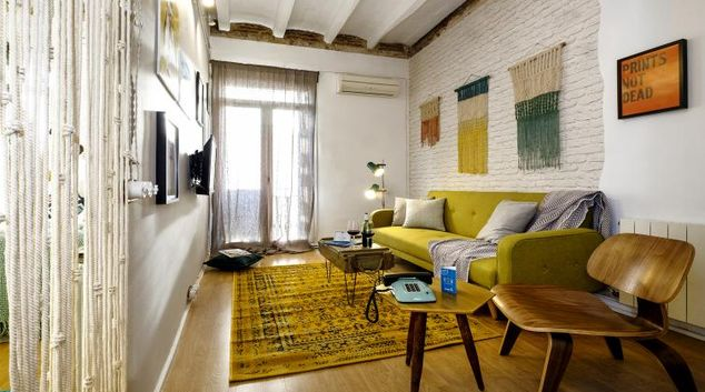 Living area at Poblenou Beach Apartment