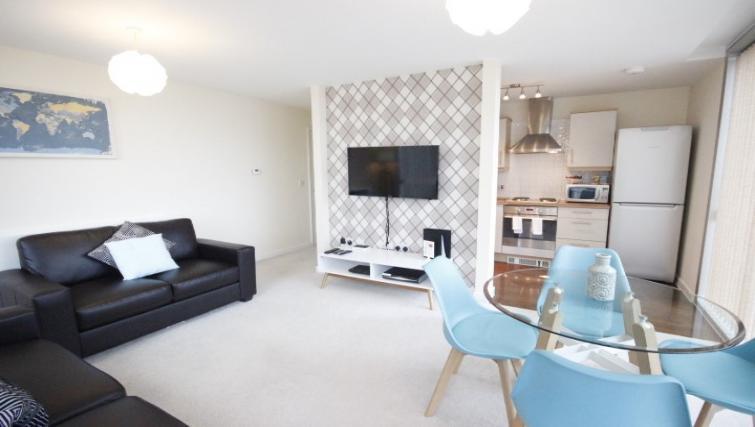 Living area at Cotels The Hub Apartments