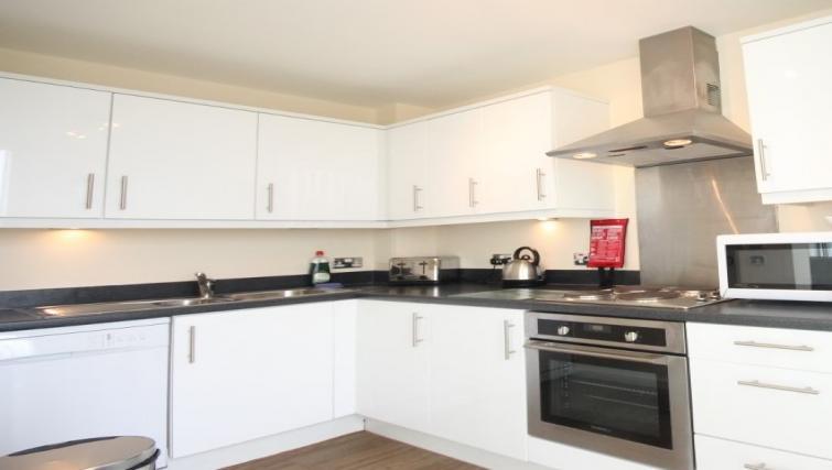 Kitchen at Cotels The Hub Apartments