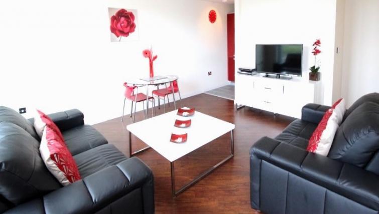 Sofa at Cotels The Hub Apartments