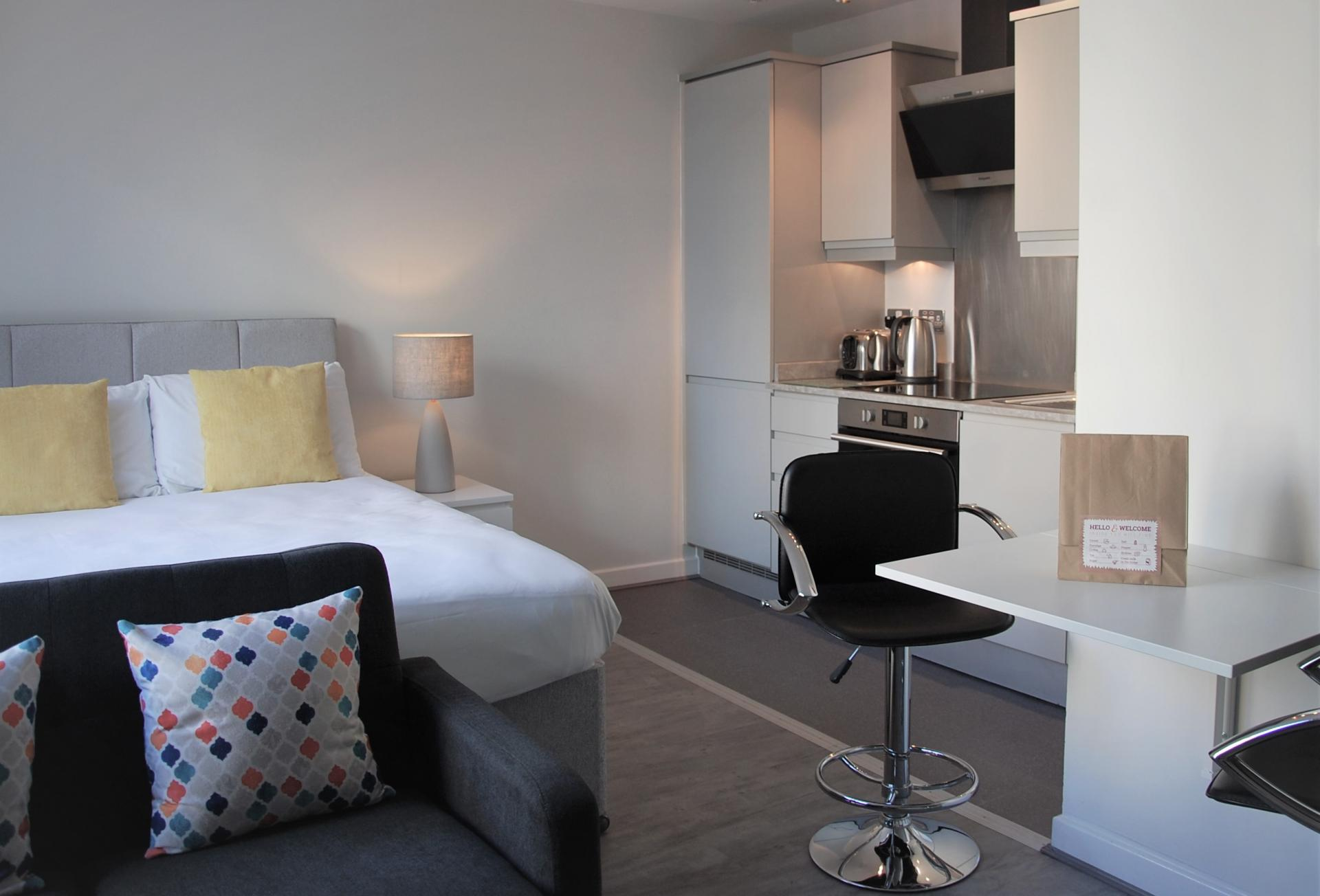 Studio overview at Cotels The Hub Apartments