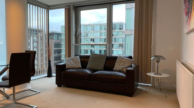 Living area at Cotels The Hub Apartments, Centre, Milton Keynes