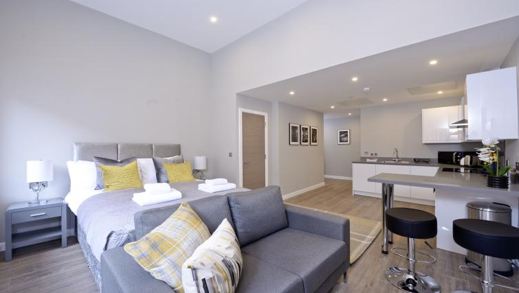 Lounge at the Nelson Mandela Place Apartments