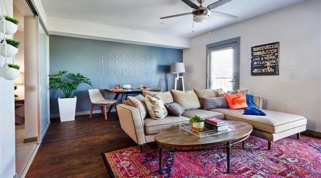 Living area at Rowlock Apartments