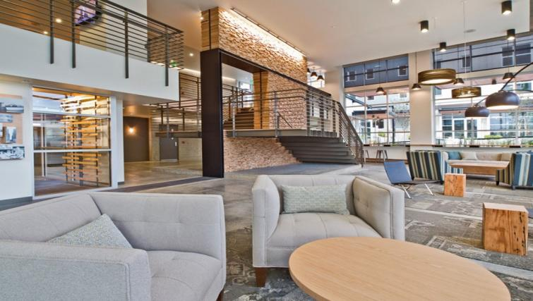Communal lounge at the AMLI Mark24 Apartments