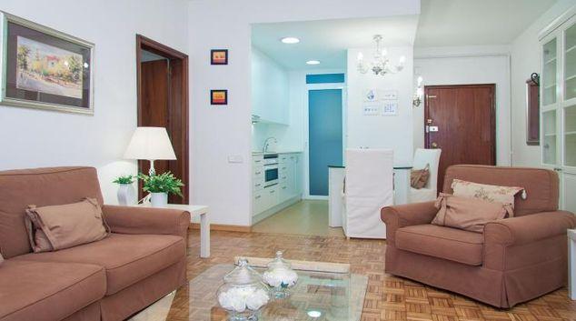 Living room at the Delicat Santalo Apartment