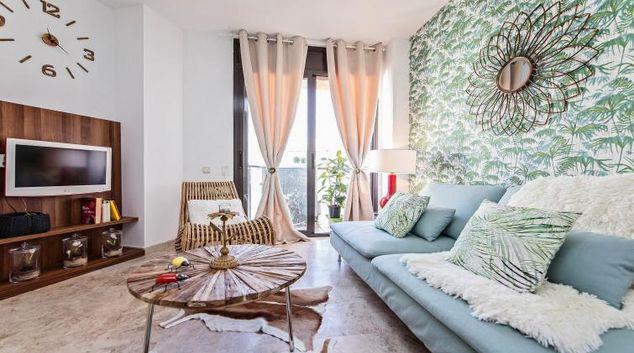 Living room at the Cosy Ciutadella Apartment
