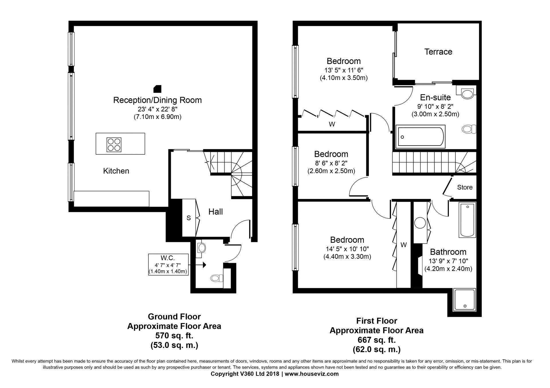 Floor plan at the Hyde Park Gate Apartments