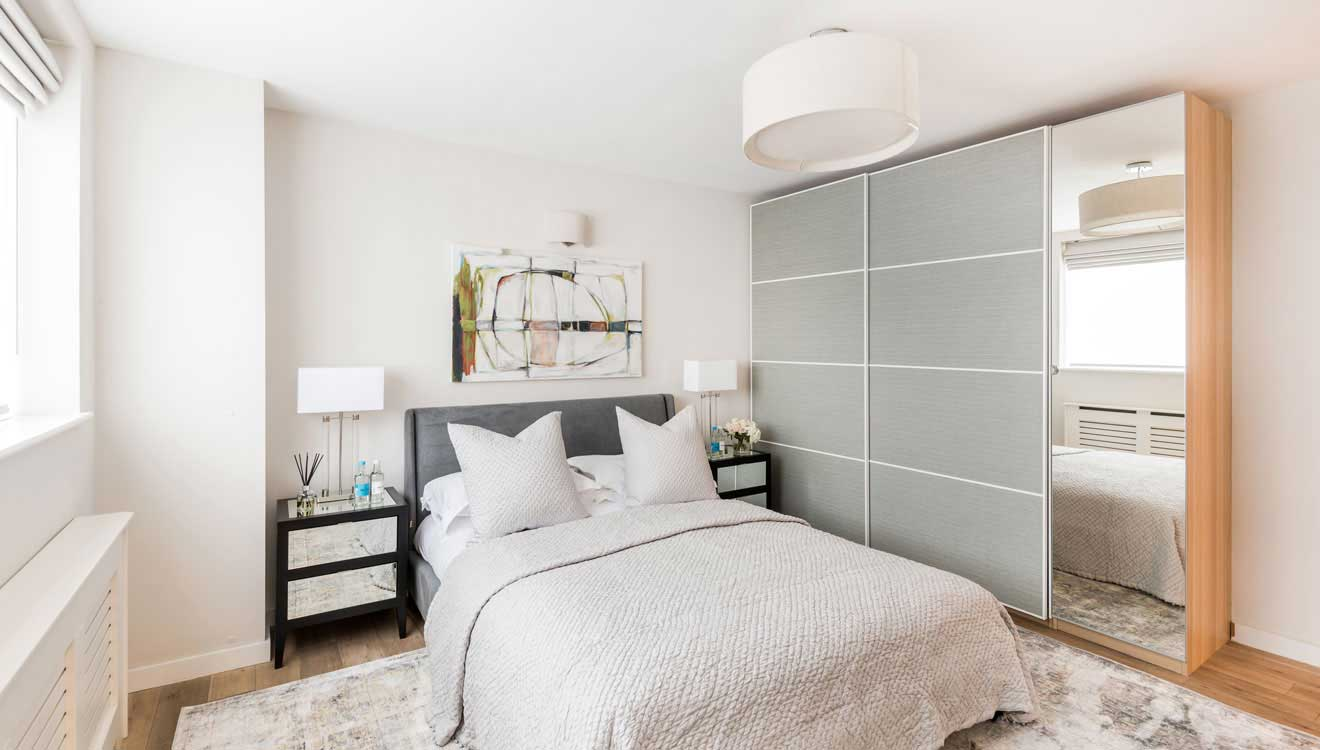 Bedroom at Hyde Park Gate Apartments