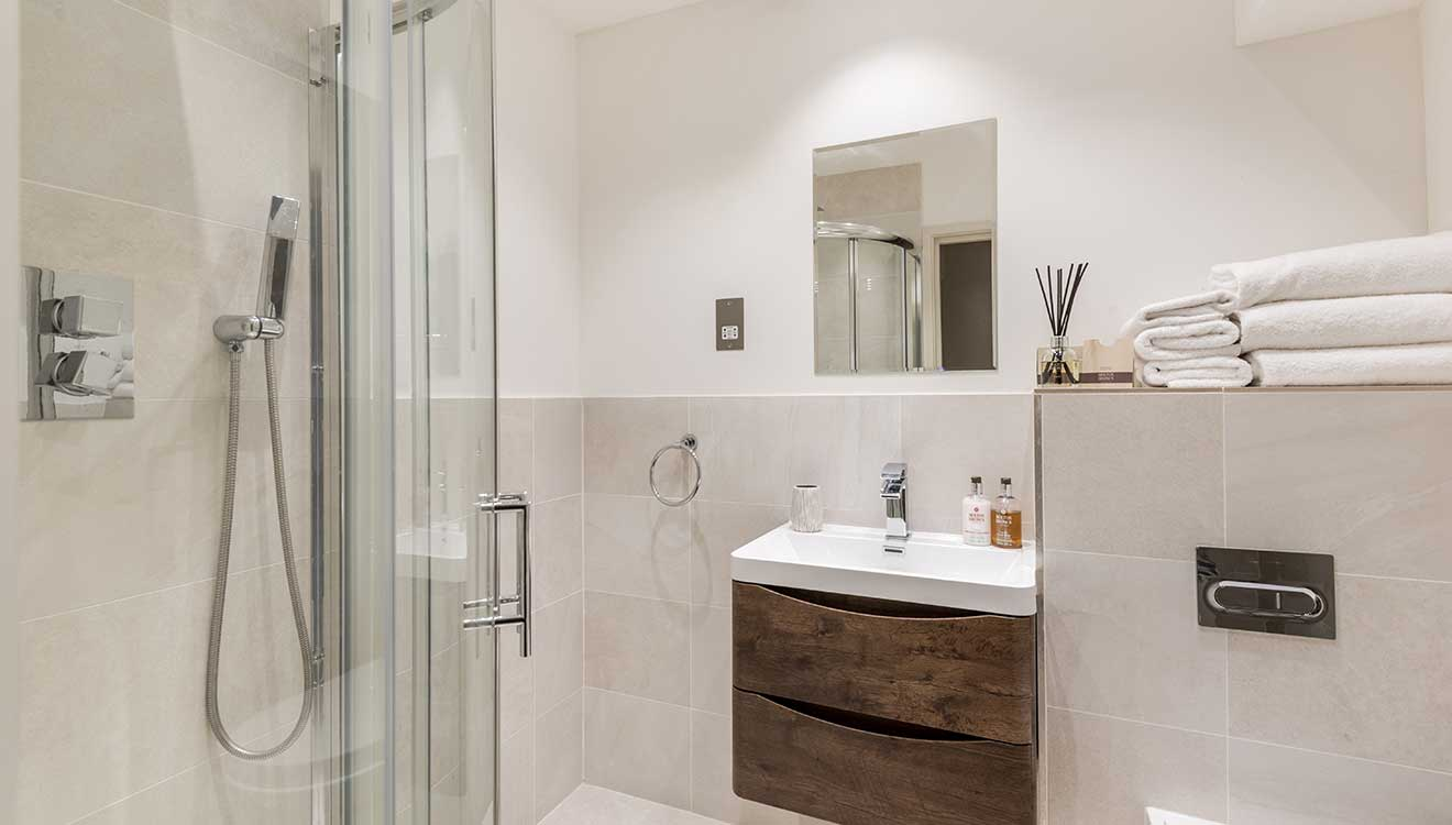 Shower at Hyde Park Gate Apartments