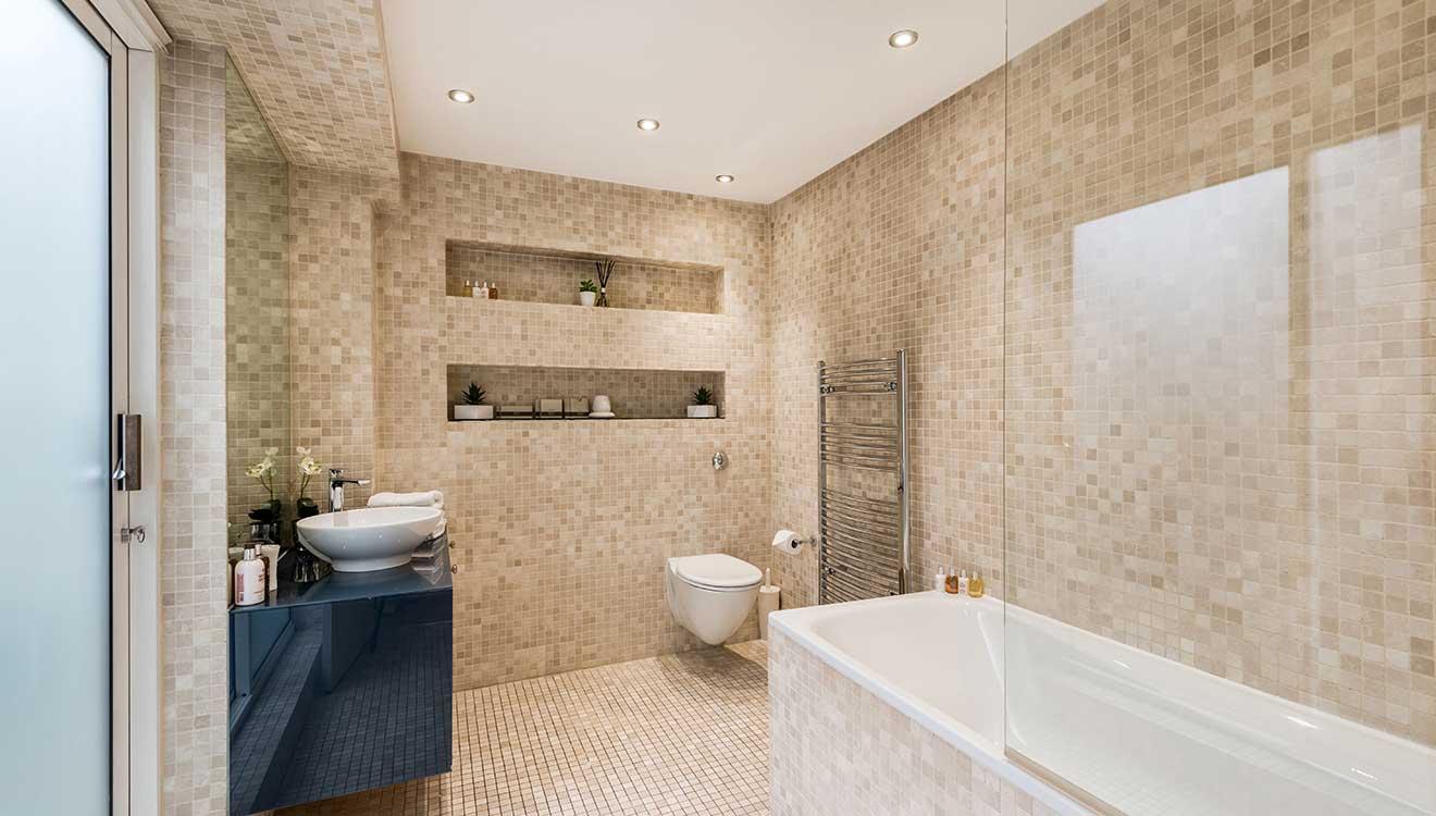 WC adn bath at Hyde Park Gate Apartments