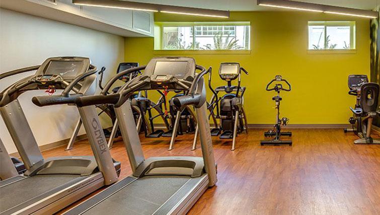 Gym at Juxt Apartments
