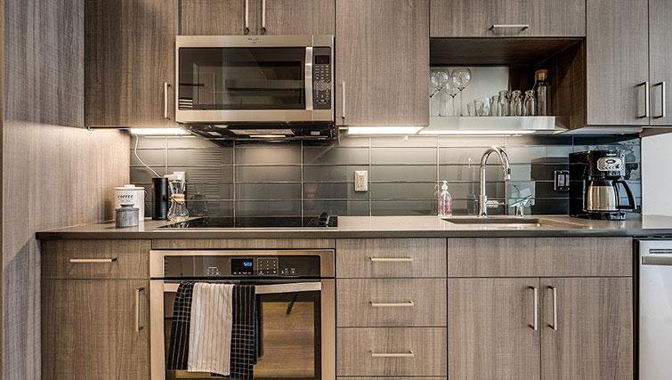 Kitchen at Juxt Apartments