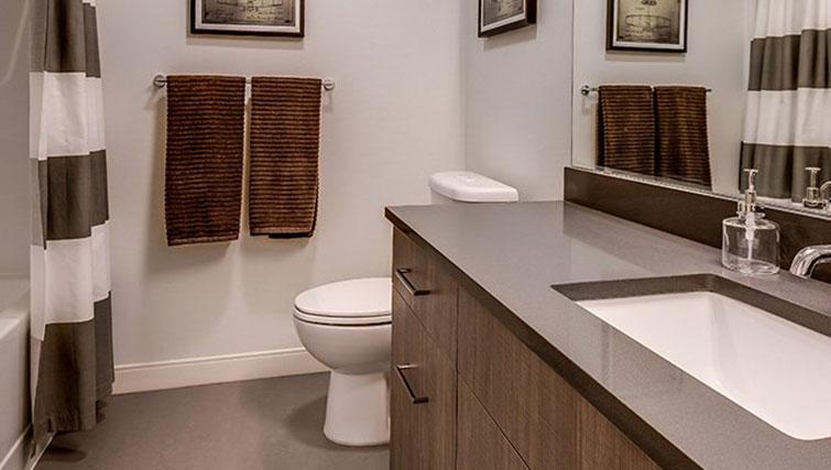 Bathroom at Juxt Apartments