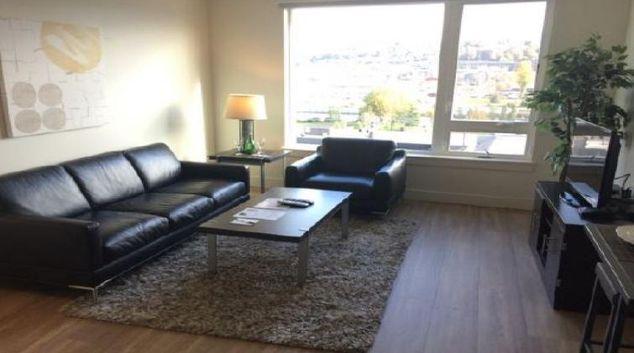 Living area at Juxt Apartments
