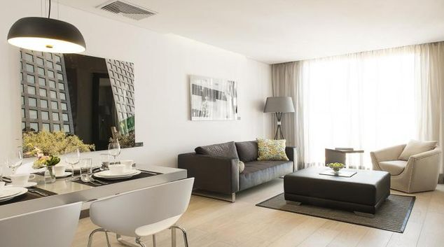 Living area at Spring Acua Apartments