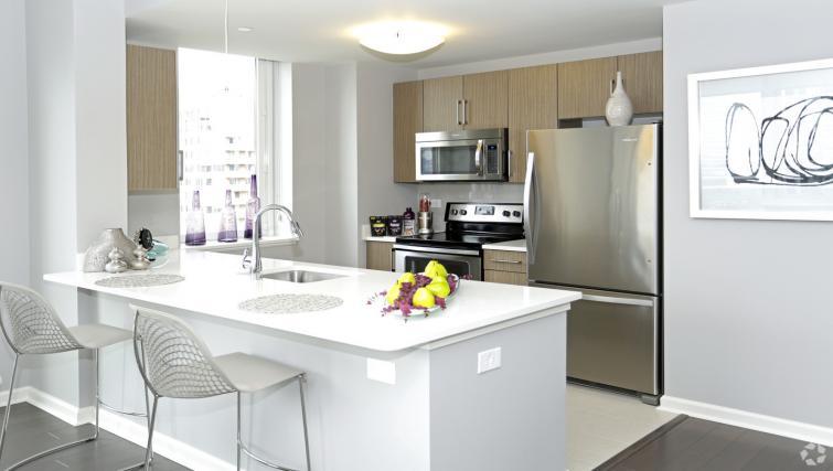 Kitchen at the NCH Marbella Apartments