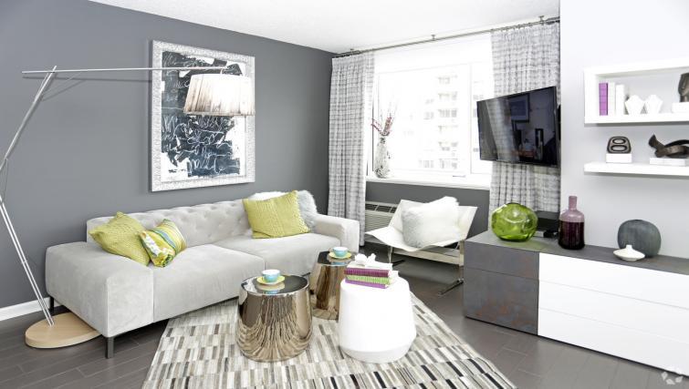 Living room at the NCH Marbella Apartments