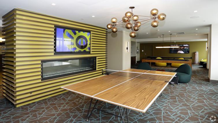 Games room at the NCH Marbella Apartments