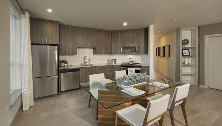 Kitchen at the Broadstone Lexington Apartments