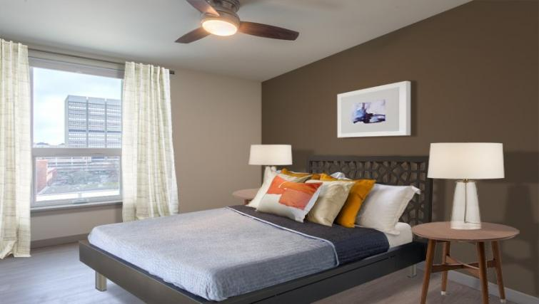 Bedroom at the Broadstone Lexington Apartments