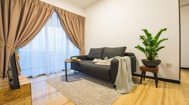 Living room at the Aljunied Apartments, Singapore