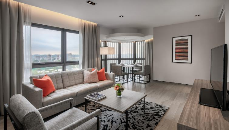 Living area at Le Grove Serviced Residences, Singapore