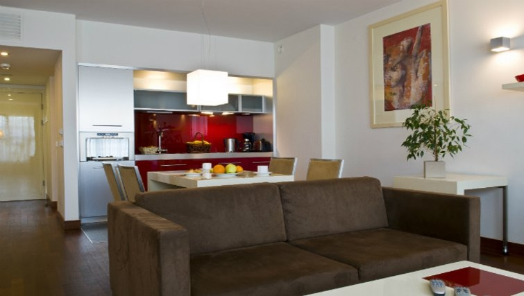Open plan kitchen in Mamaison Residence Diana