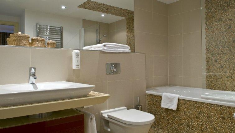 Sleek bathroom in Mamaison Residence Diana
