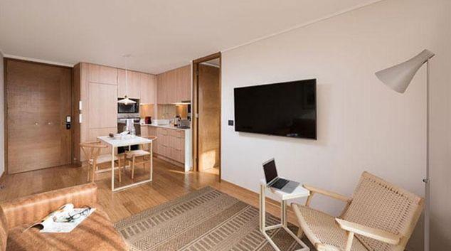 Living area at Málaga Apartments