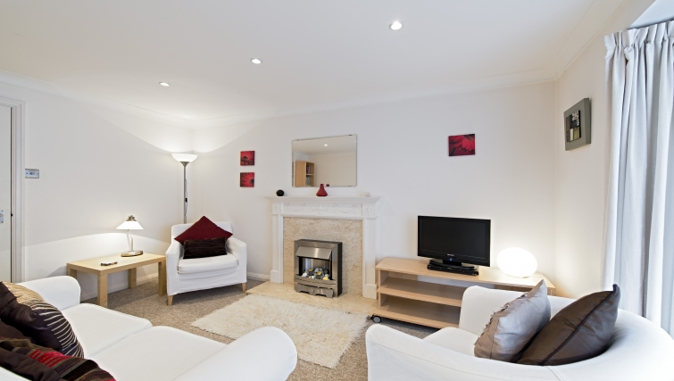 Living area at Brooklands Court Apartments