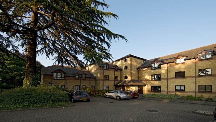 Exterior of Brooklands Court Apartments