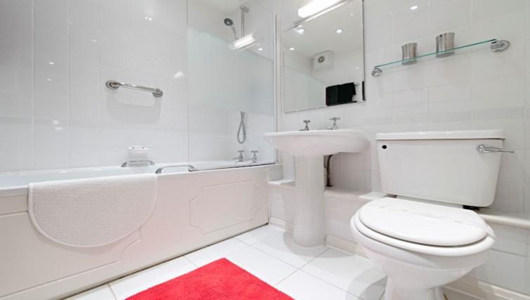 Bathroom at Brooklands Court Apartments