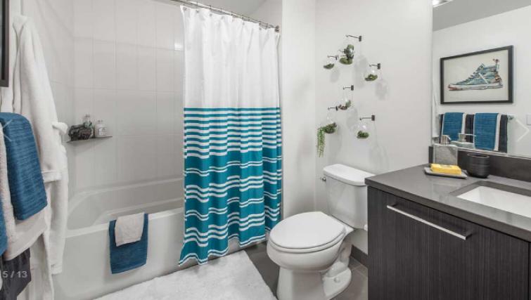 Bathroom at the AMLI Arc Apartments