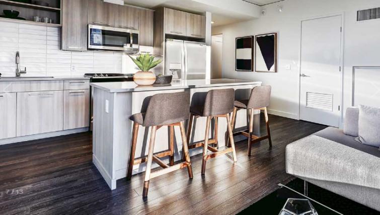 Kitchen at the AMLI Arc Apartments