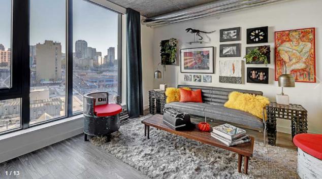 Living room at the AMLI Arc Apartments