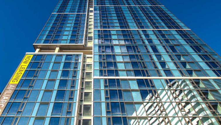 Exterior at the AMLI Arc Apartments