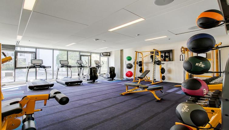 Gym at the 8th and Republican Apartments