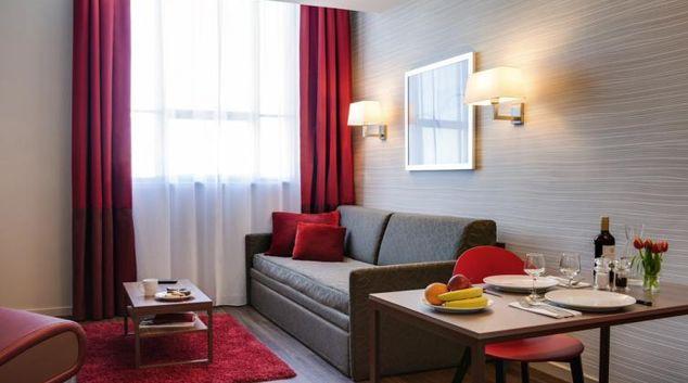 Living area at Adagio Liverpool City Centre Apartments