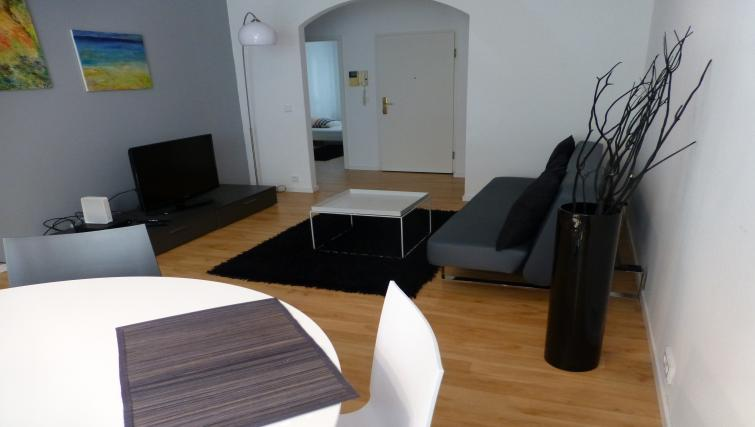 Living area at Westendplatz Apartment