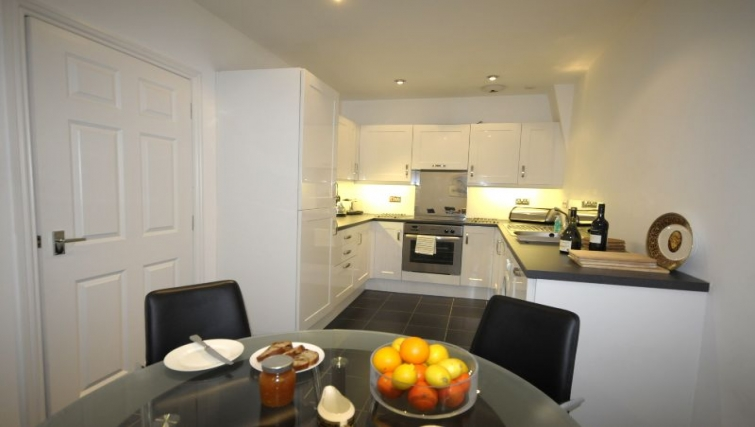 Well equipped kitchen in 26 Commercial Street Apartments
