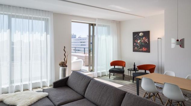 Living room at Gershwin Serviced Apartments, Amsterdam