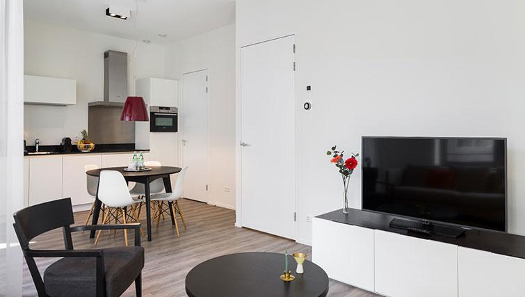 Living space at Gershwin Serviced Apartments, Amsterdam