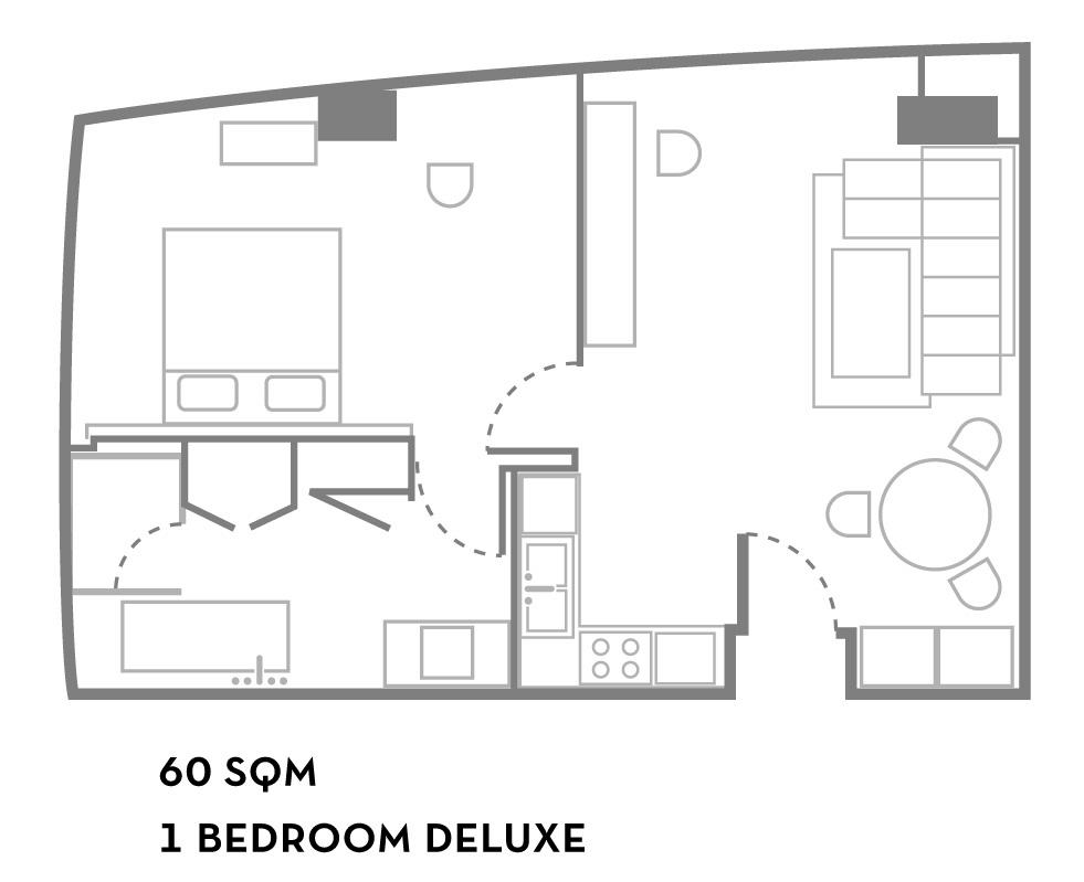 Floor plan of Fraser Suites Sukhumvit Bangkok